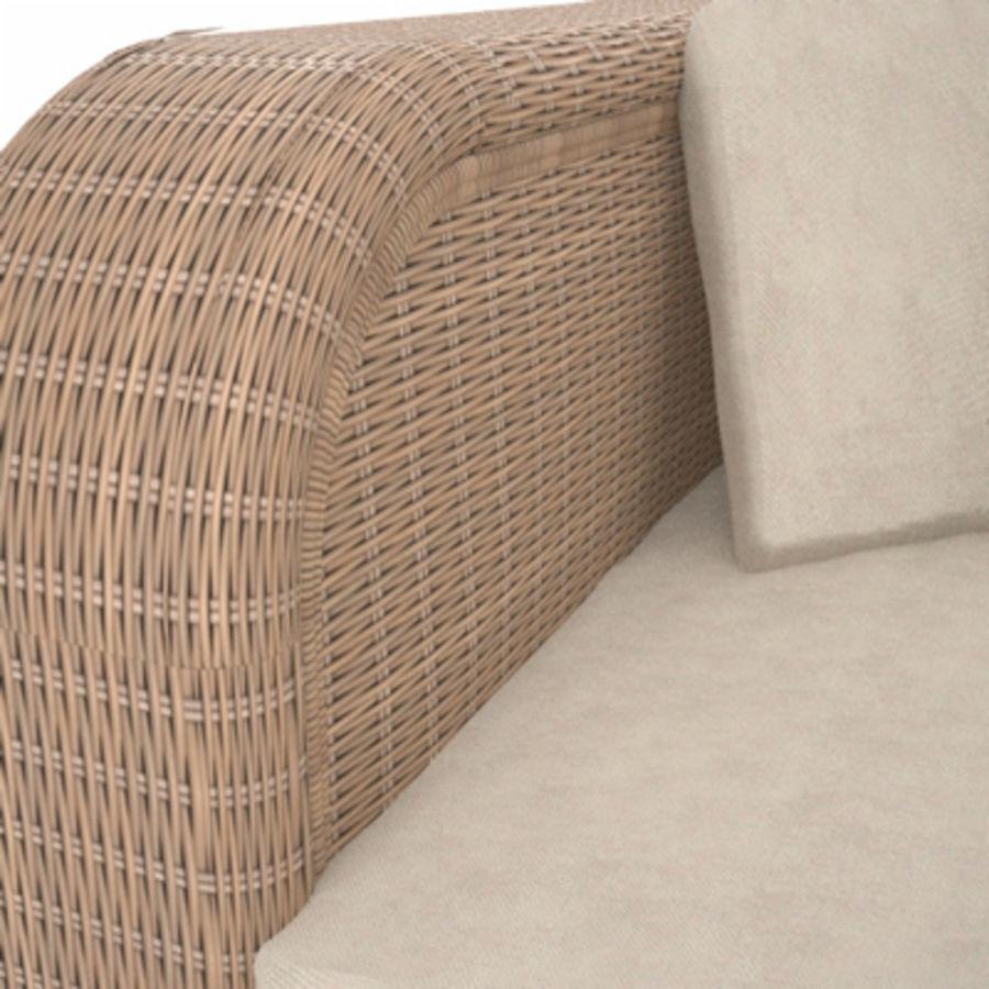 Rotting soffa royalty-free 3d model - Preview no. 3