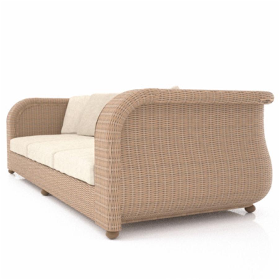 Rotting soffa royalty-free 3d model - Preview no. 2