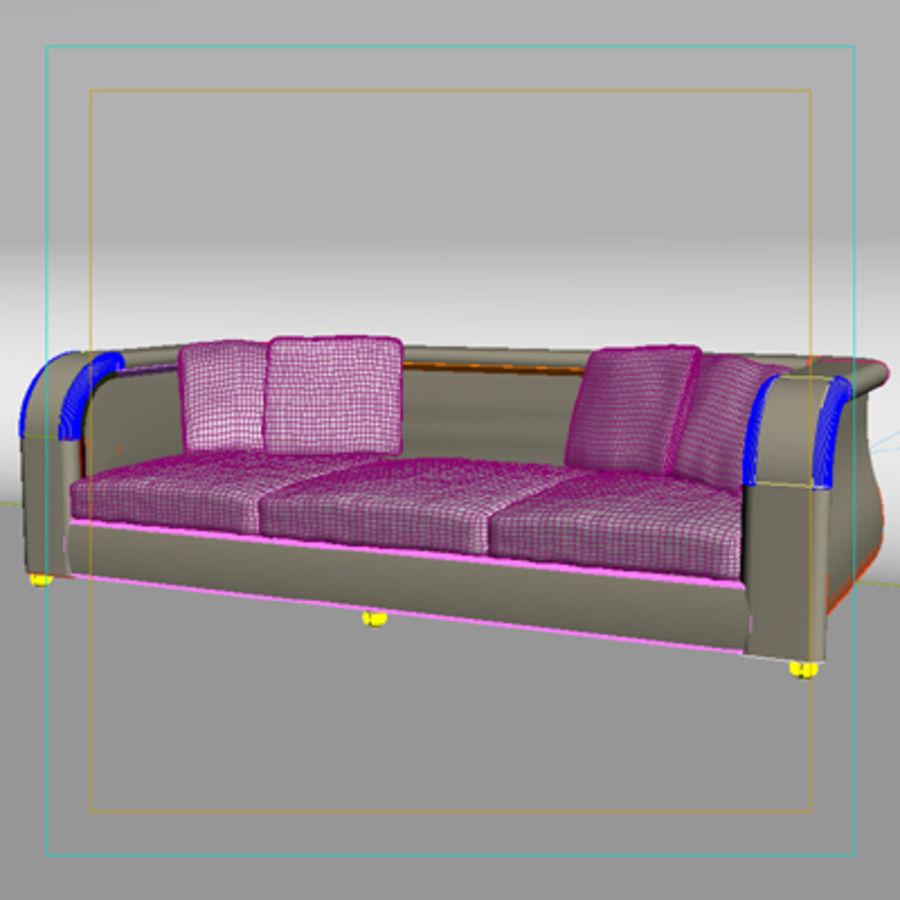 Rotting soffa royalty-free 3d model - Preview no. 7