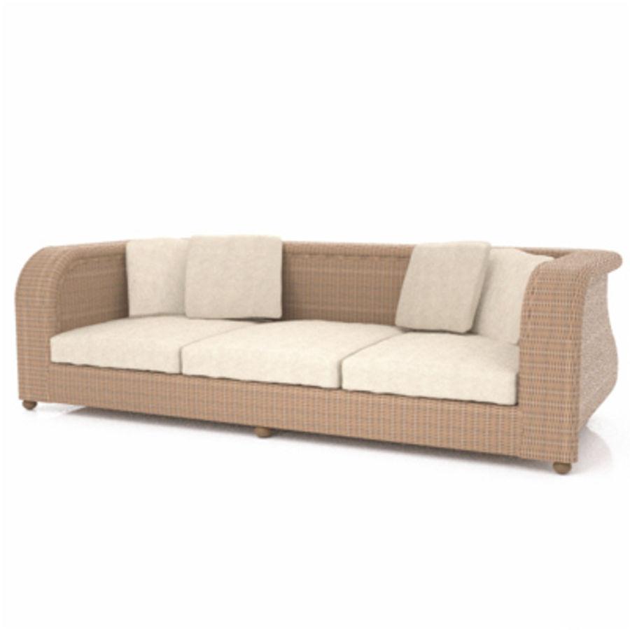 Rotting soffa royalty-free 3d model - Preview no. 1