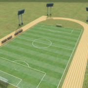 Sports_Soccer-Field_Multi 3d model