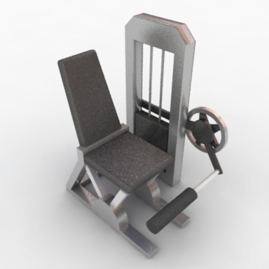 Fitnessgeräte royalty-free 3d model - Preview no. 11