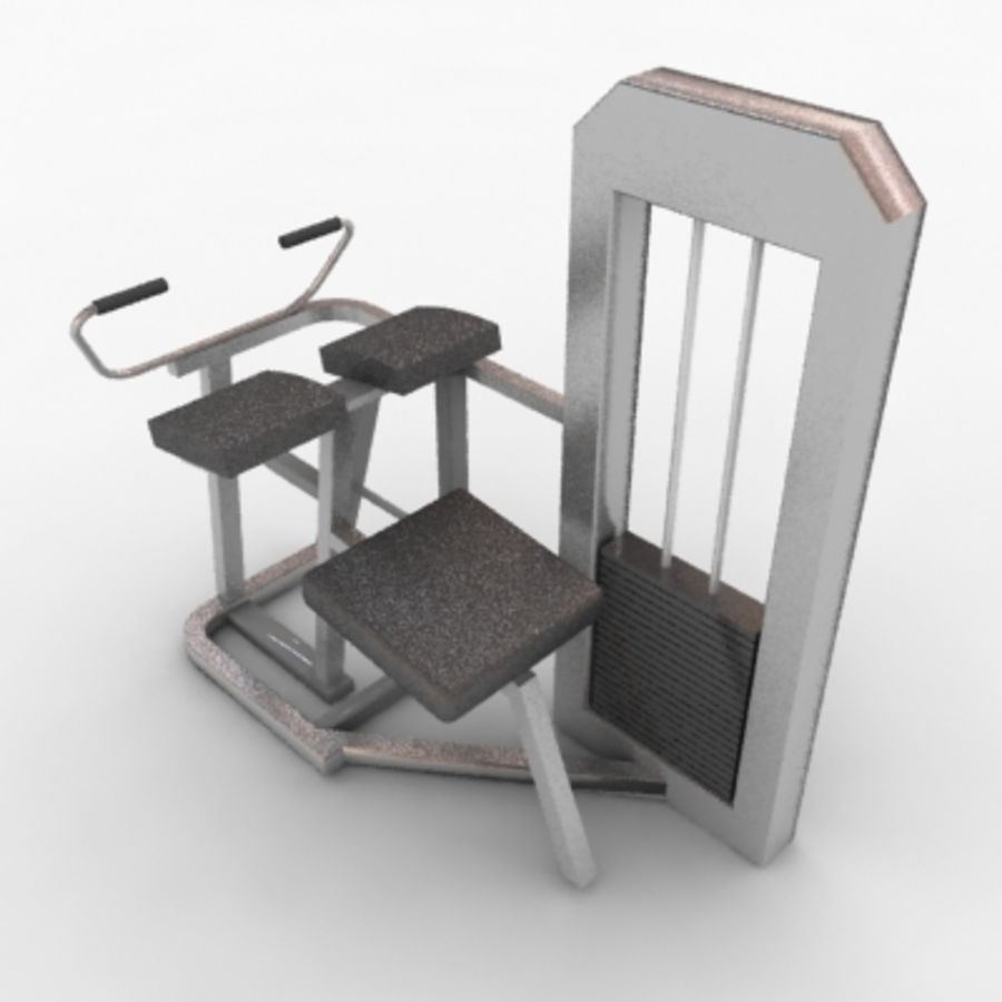 Fitnessgeräte royalty-free 3d model - Preview no. 2