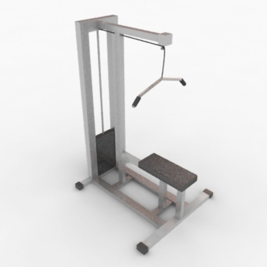 Fitnessgeräte royalty-free 3d model - Preview no. 9
