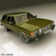 Classic station wagon 3d model