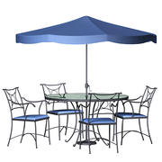 Wrought Iron Dining Set 3d model