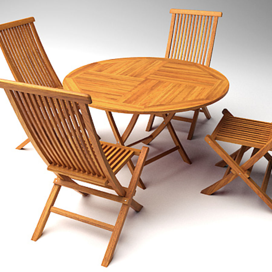 garden chair and table 1 3d model - Garden Furniture 3d Model