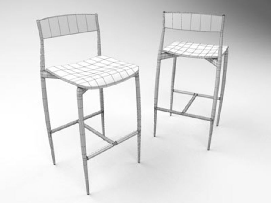 Sedia Baba Bar Stool royalty-free 3d model - Preview no. 2