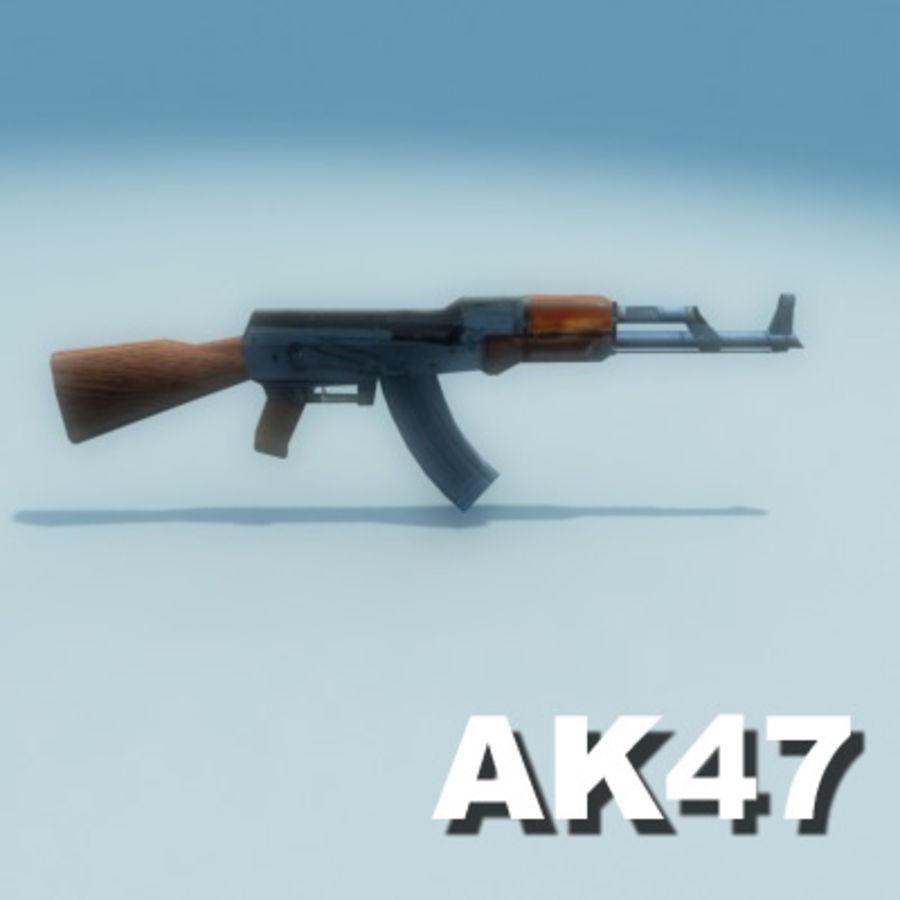 AK47-Kalashnikov_Multi.zip royalty-free 3d model - Preview no. 3