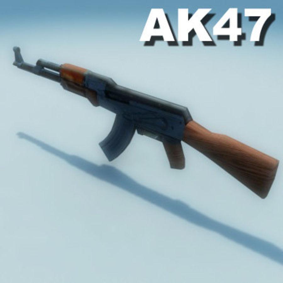 AK47-Kalashnikov_Multi.zip royalty-free 3d model - Preview no. 5