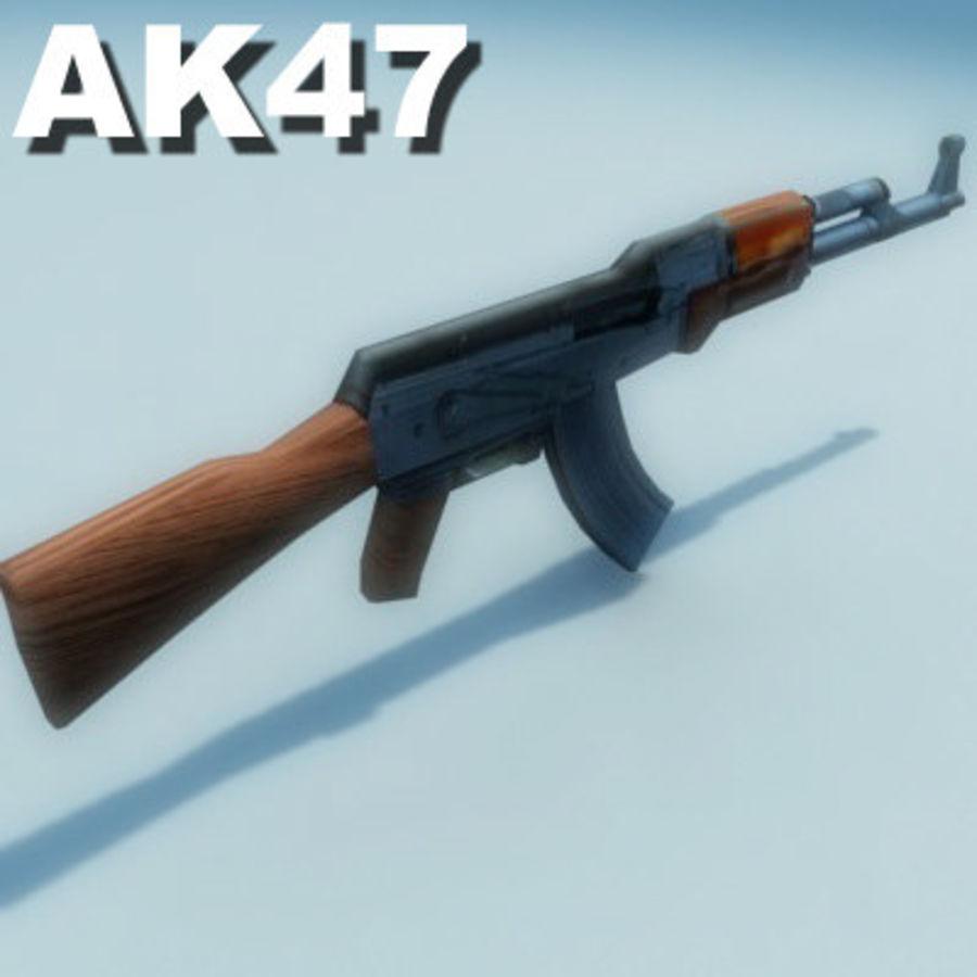 AK47-Kalashnikov_Multi.zip royalty-free 3d model - Preview no. 4