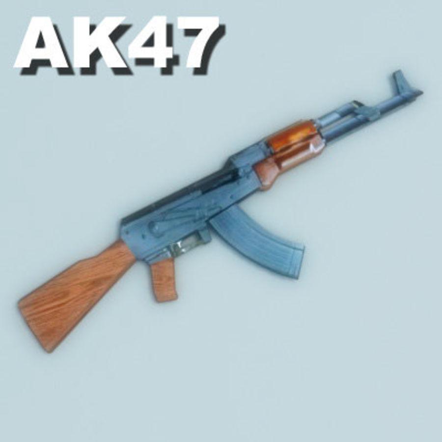 AK47-Kalashnikov_Multi.zip royalty-free 3d model - Preview no. 1