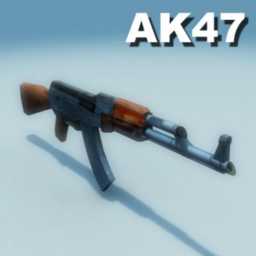 AK47-Kalashnikov_Multi.zip royalty-free 3d model - Preview no. 2