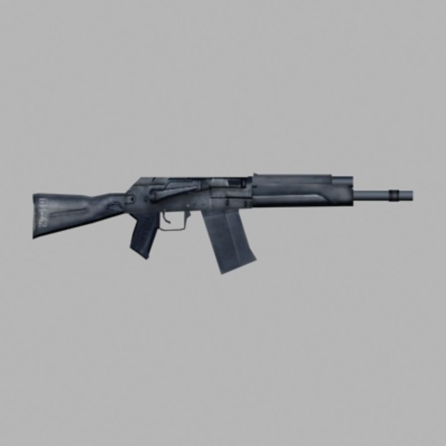 Saiga Shotgun royalty-free 3d model - Preview no. 1