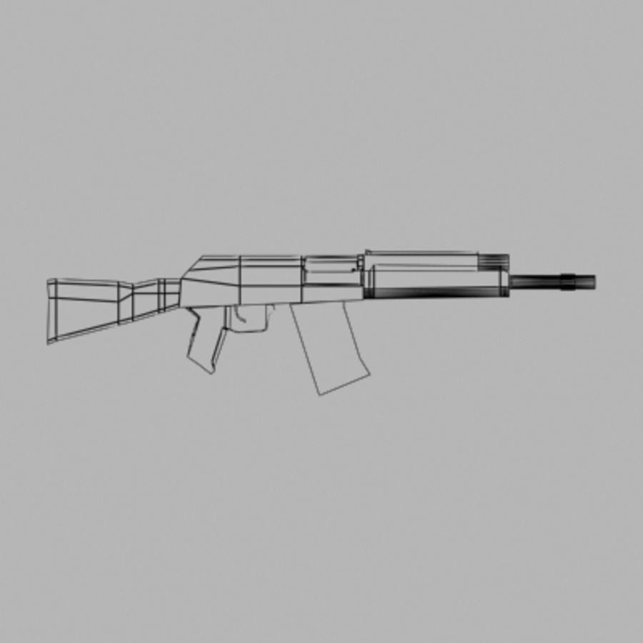 Saiga Shotgun royalty-free 3d model - Preview no. 2