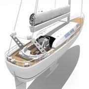 3D Yacht 2 3d model