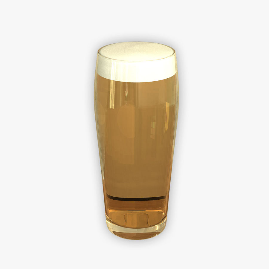 Beer Glass 2 royalty-free 3d model - Preview no. 1