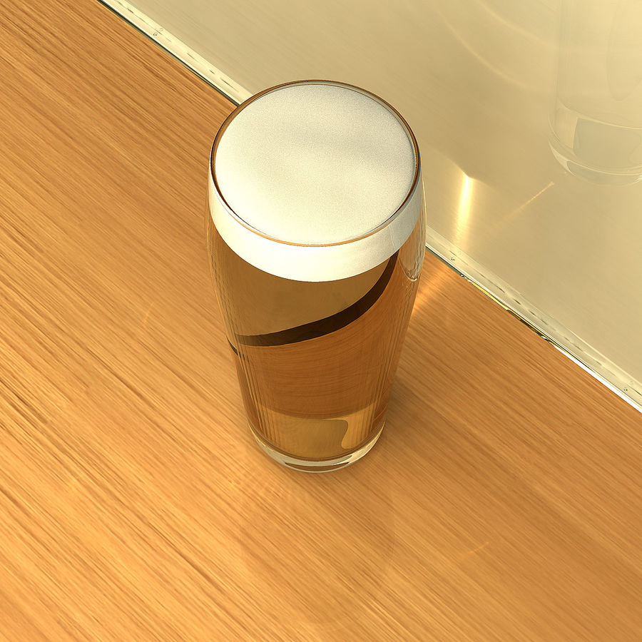 Beer Glass 2 royalty-free 3d model - Preview no. 4