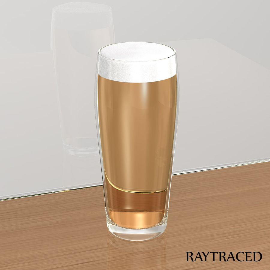 Beer Glass 2 royalty-free 3d model - Preview no. 8