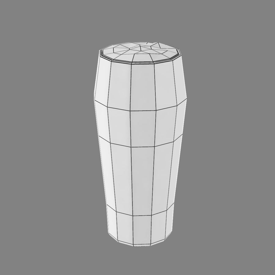 Beer Glass 2 royalty-free 3d model - Preview no. 9
