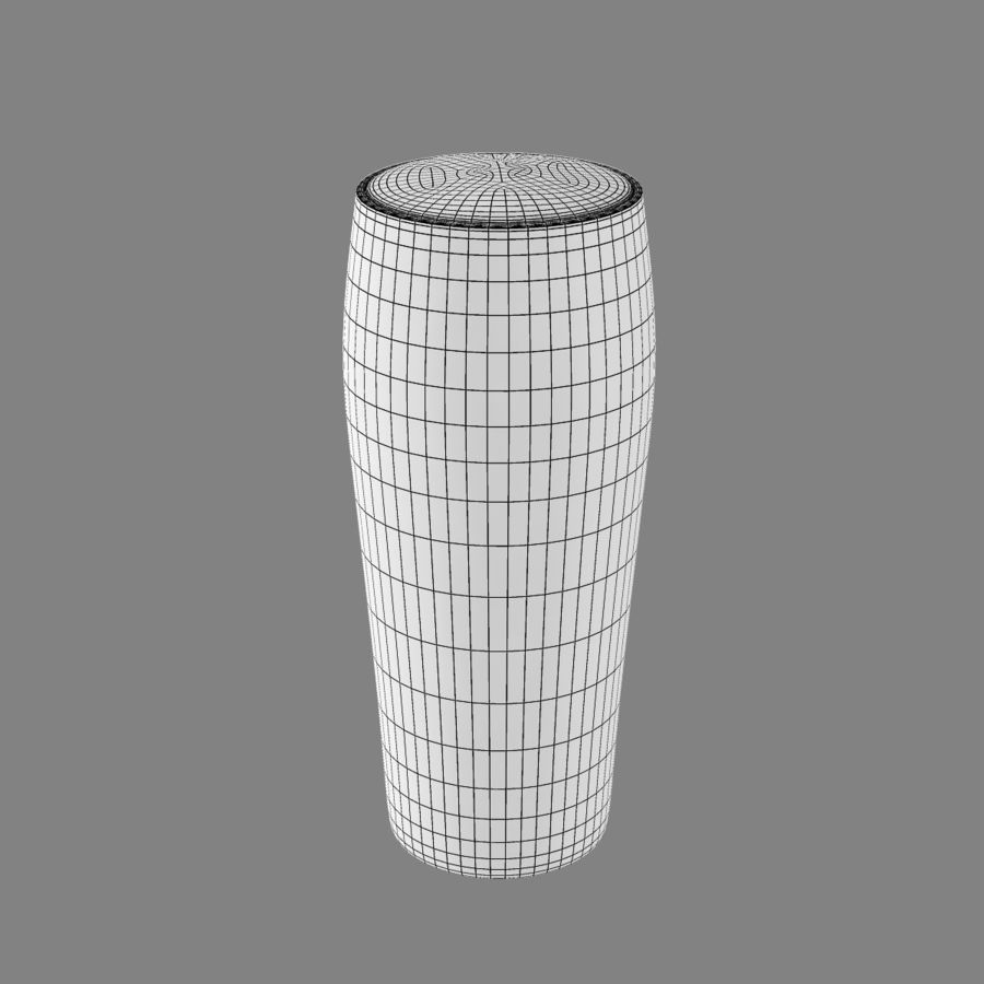 Beer Glass 2 royalty-free 3d model - Preview no. 10