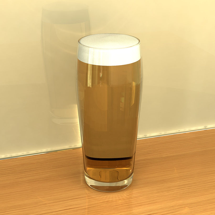 Beer Glass 2 royalty-free 3d model - Preview no. 2