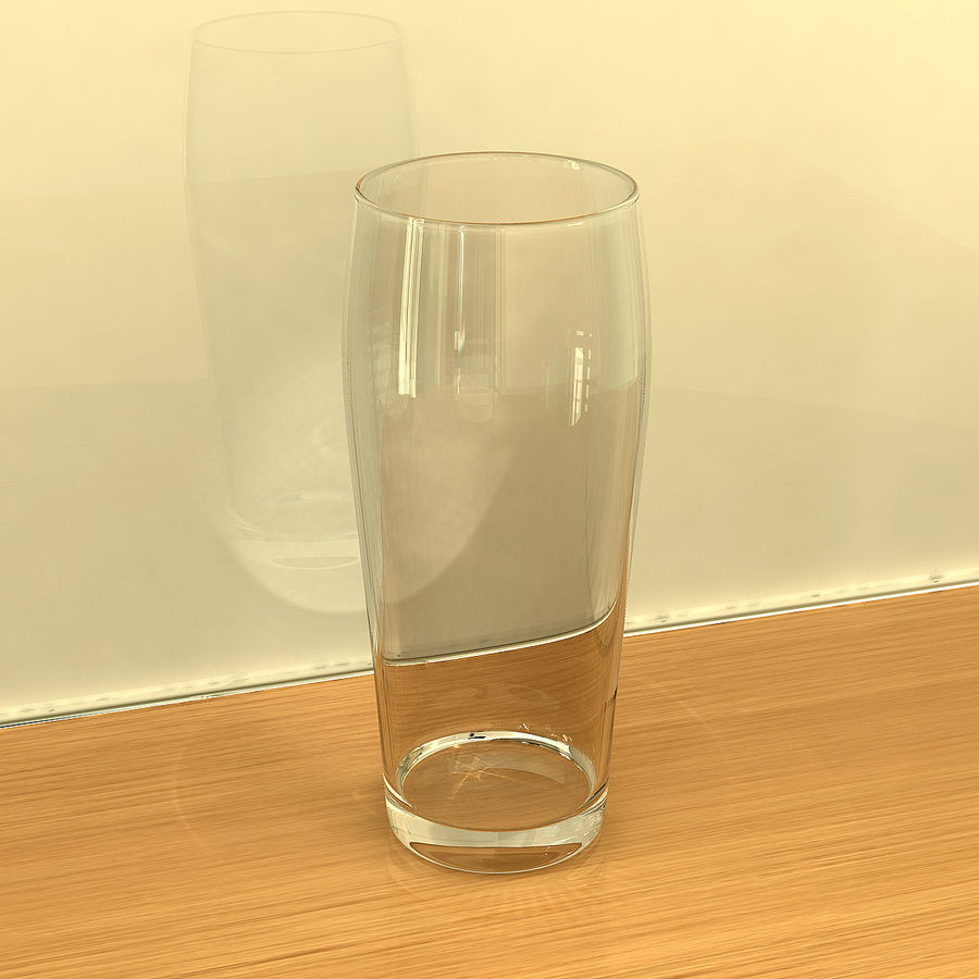 Beer Glass 2 royalty-free 3d model - Preview no. 6