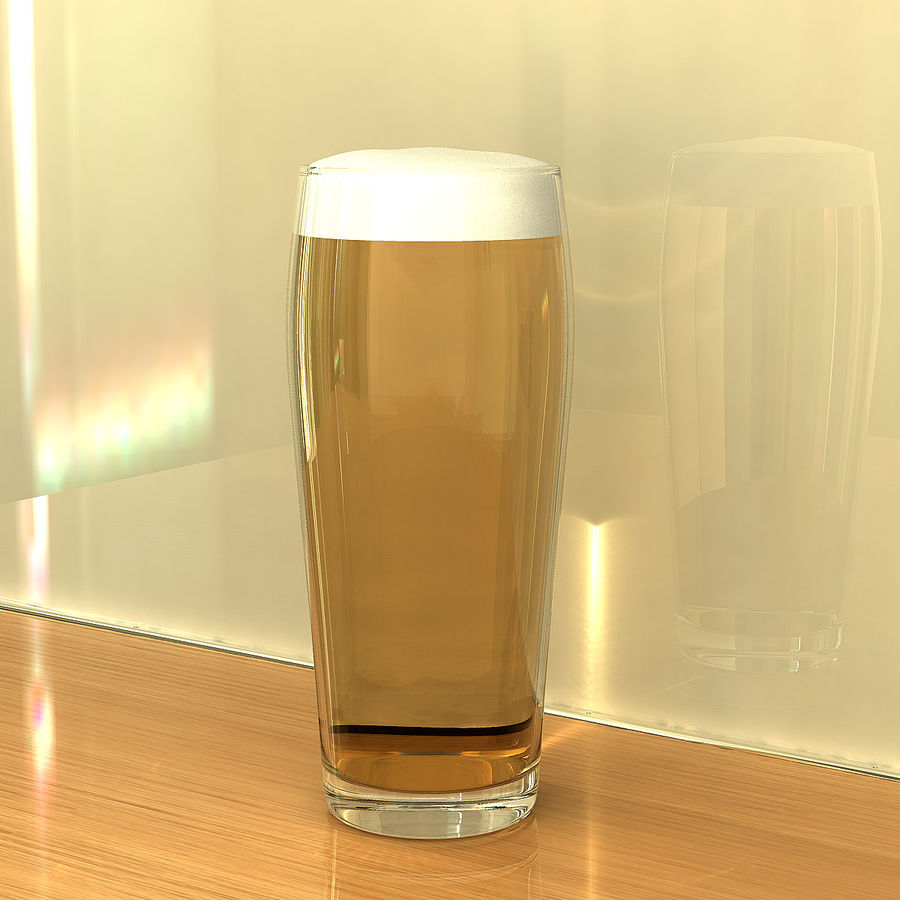 Beer Glass 2 royalty-free 3d model - Preview no. 5