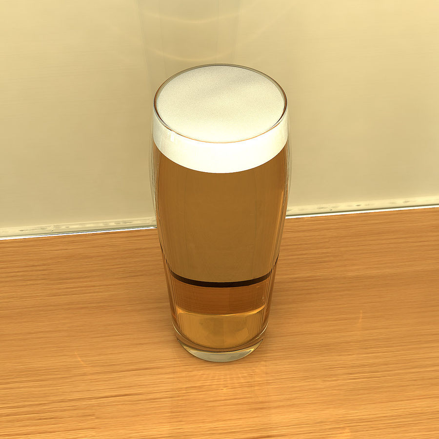 Beer Glass 2 royalty-free 3d model - Preview no. 3