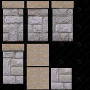 3D Stone Railing Collection #1 3d model