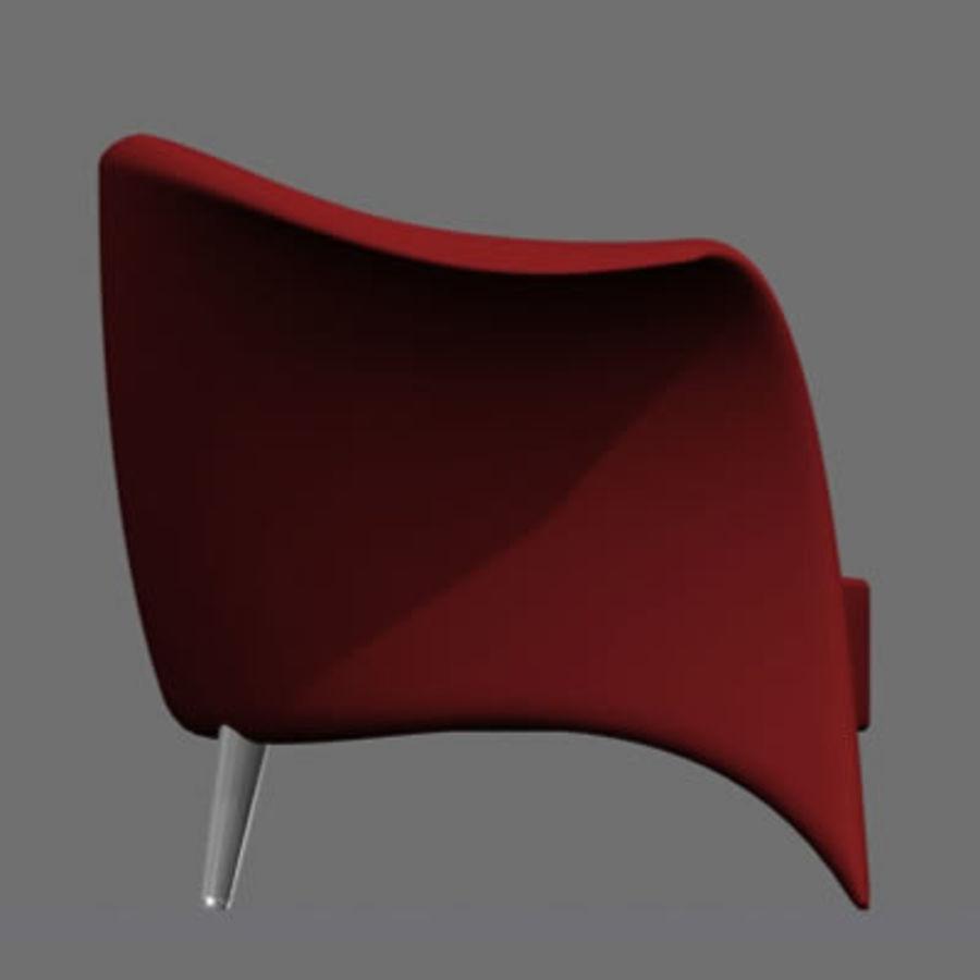 sandalye modeli royalty-free 3d model - Preview no. 8