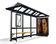 Bus shelter - traditional 3d model