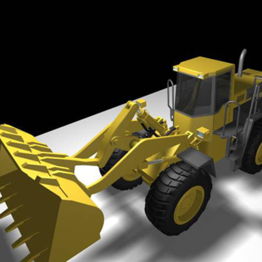 Wheel loader royalty-free 3d model - Preview no. 2