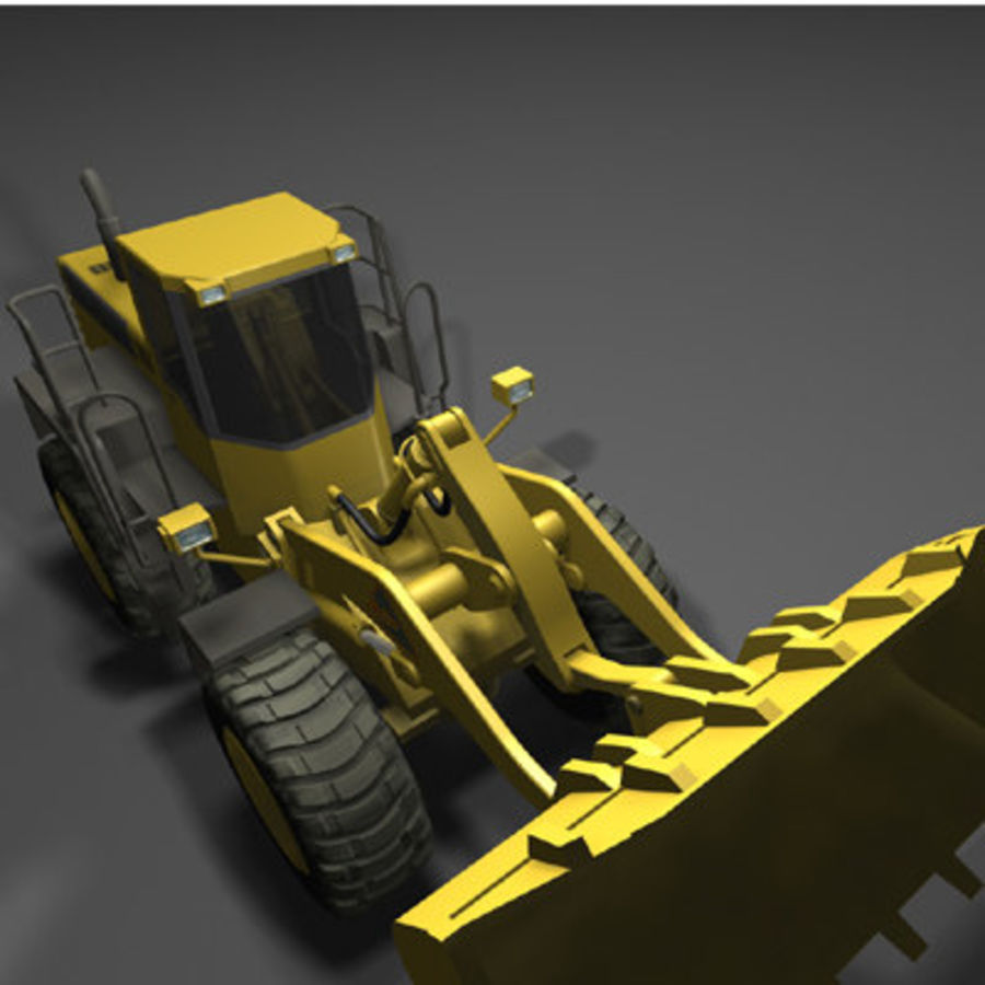 Wheel loader royalty-free 3d model - Preview no. 3