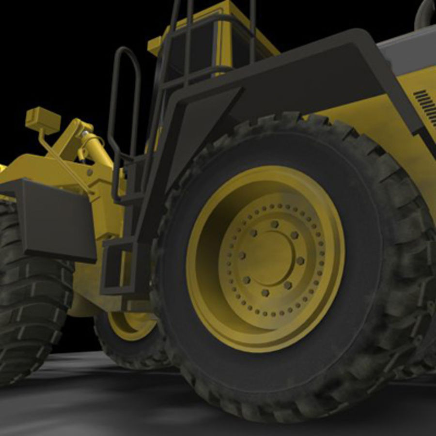 Wheel loader royalty-free 3d model - Preview no. 1