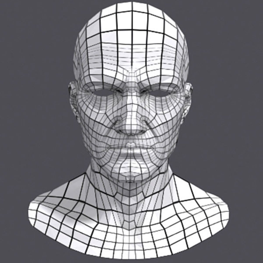 Midlle Aged Man Head 3d Model royalty-free 3d model - Preview no. 5