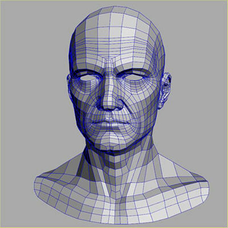 Midlle Aged Man Head 3d Model royalty-free 3d model - Preview no. 6