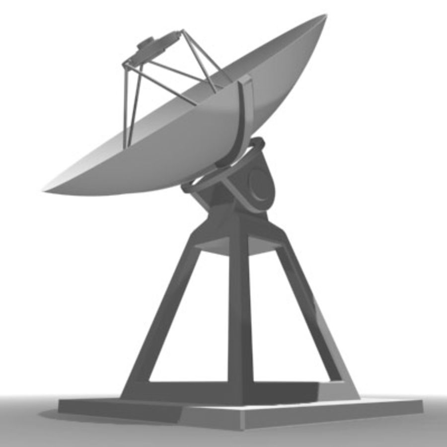satellite_dish.zip royalty-free 3d model - Preview no. 5
