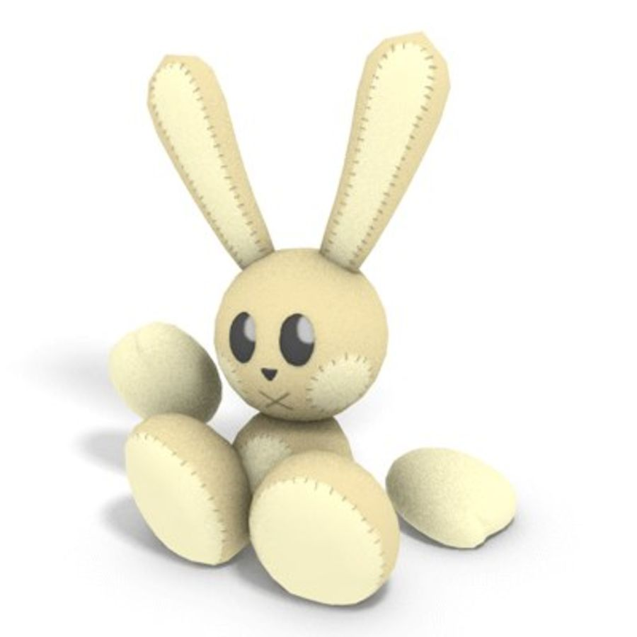 Bunny Plushie royalty-free 3d model - Preview no. 1