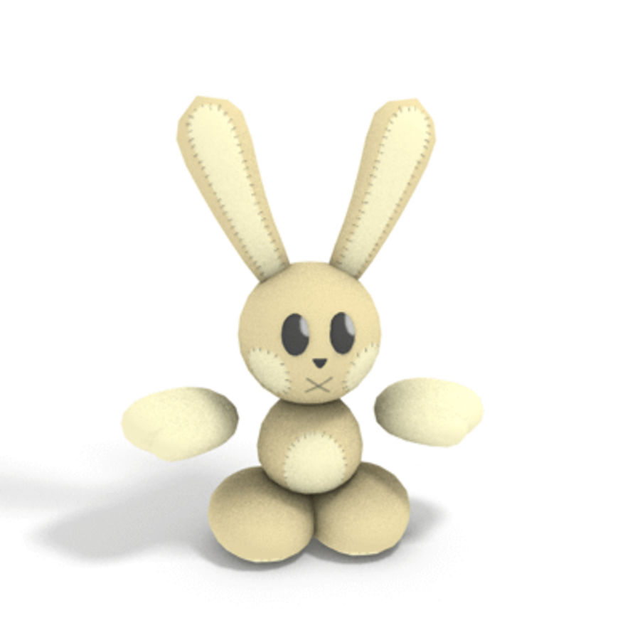 Bunny Plushie royalty-free 3d model - Preview no. 2