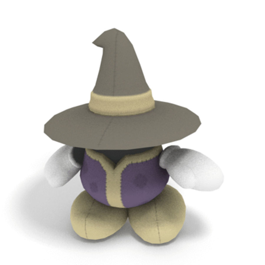 Mage Plushie royalty-free 3d model - Preview no. 1