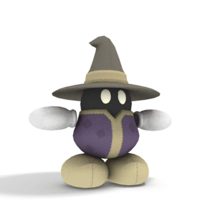 Mage Plushie royalty-free 3d model - Preview no. 2