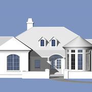 Zeitgenössisches Ranchhaus 3d model