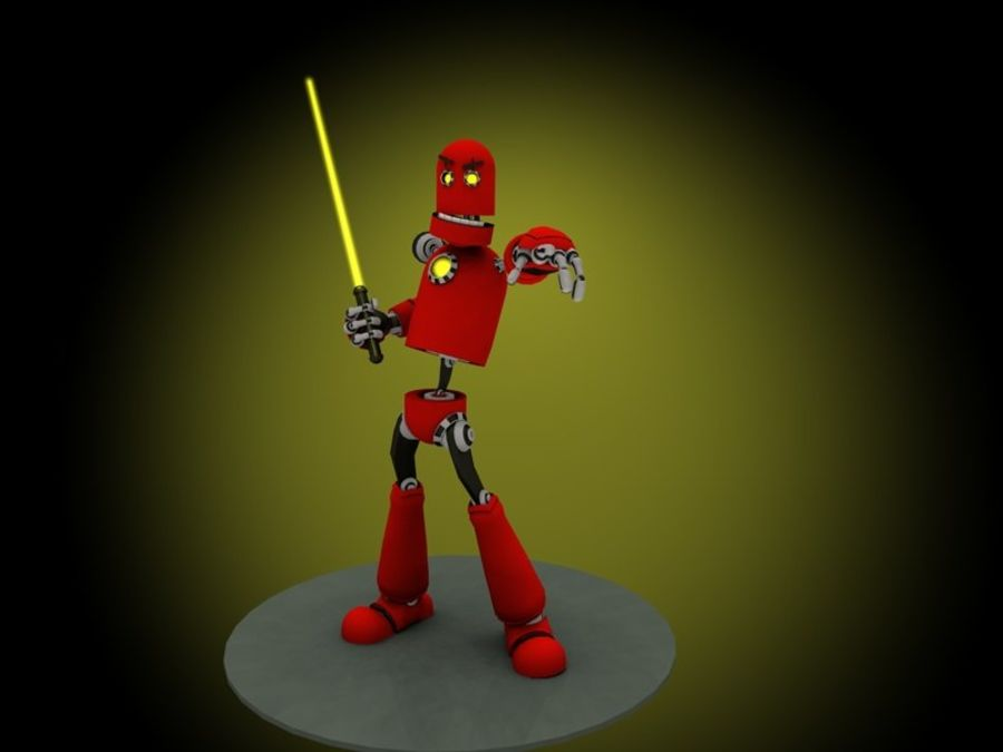 Robot! royalty-free 3d model - Preview no. 3