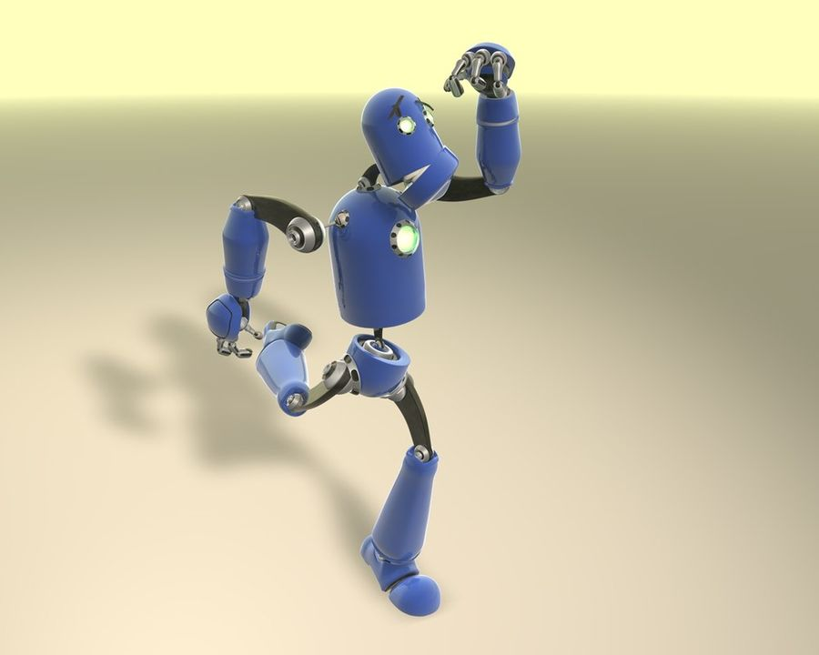 Robot! royalty-free 3d model - Preview no. 4