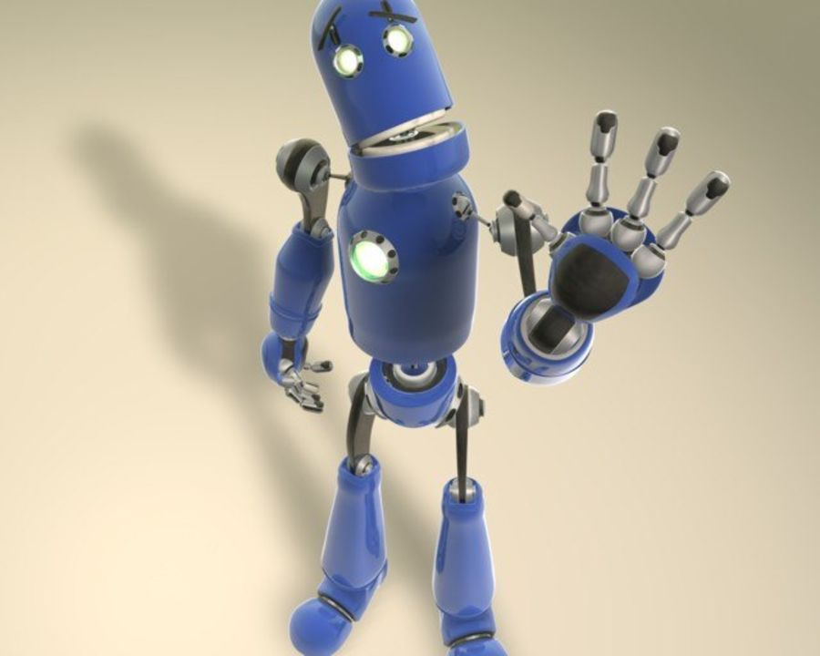 Robot! royalty-free 3d model - Preview no. 2
