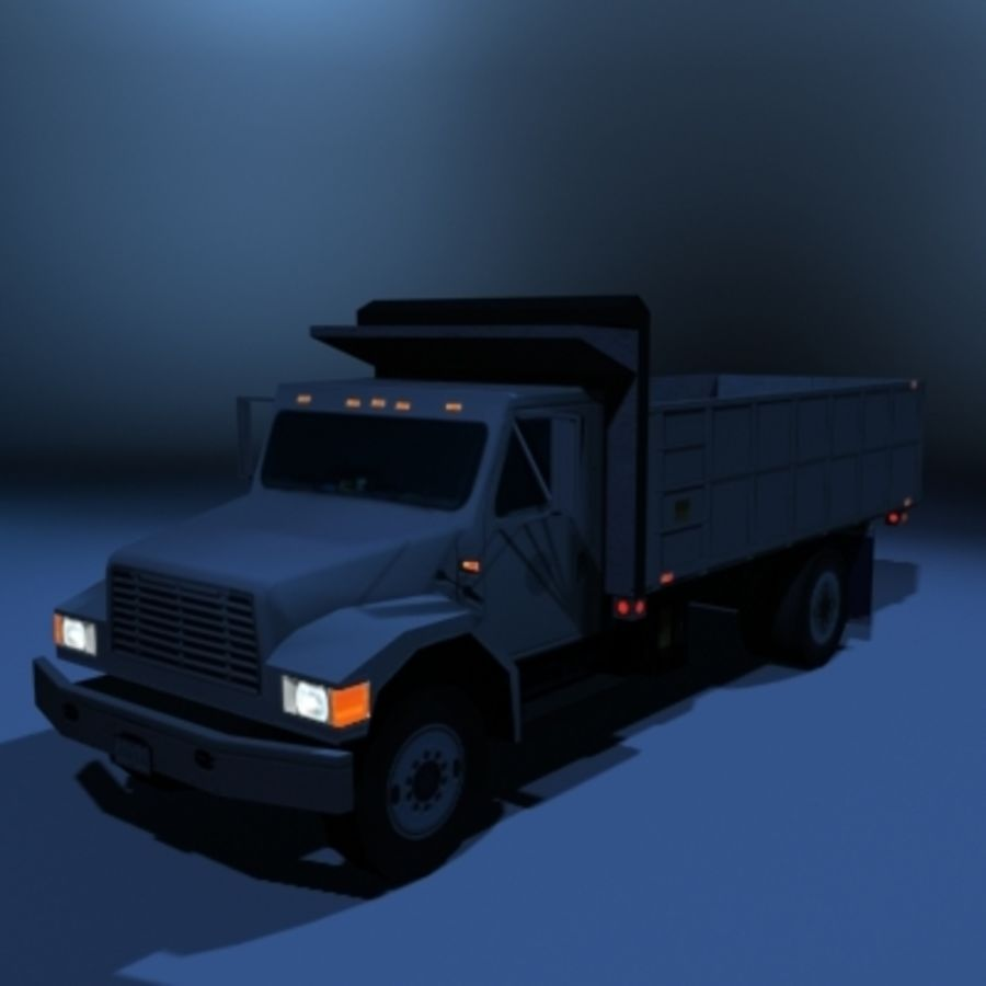 VS02 DumpTruck1 royalty-free 3d model - Preview no. 2