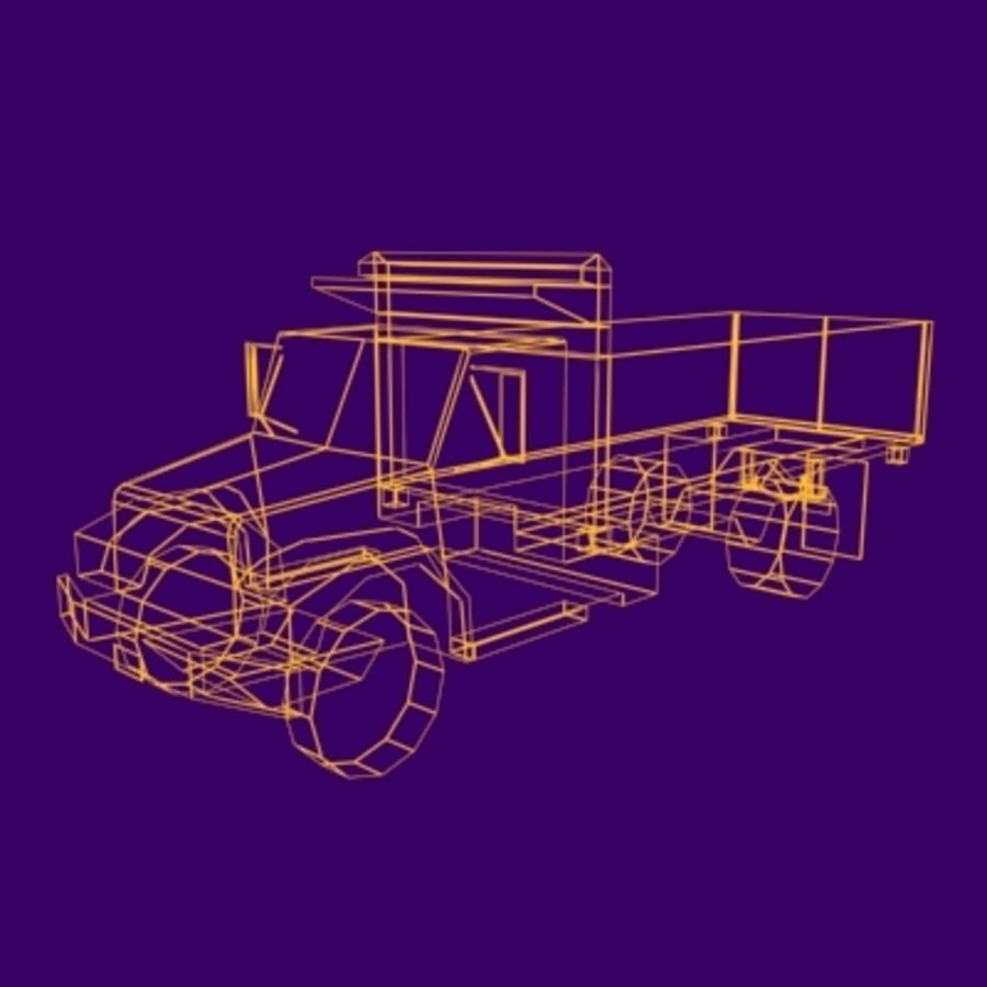VS02 DumpTruck1 royalty-free 3d model - Preview no. 9