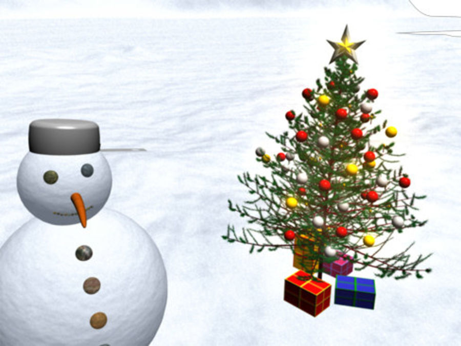 Christmas Tree royalty-free 3d model - Preview no. 3