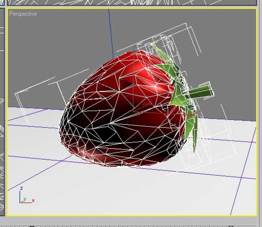 fragola royalty-free 3d model - Preview no. 2